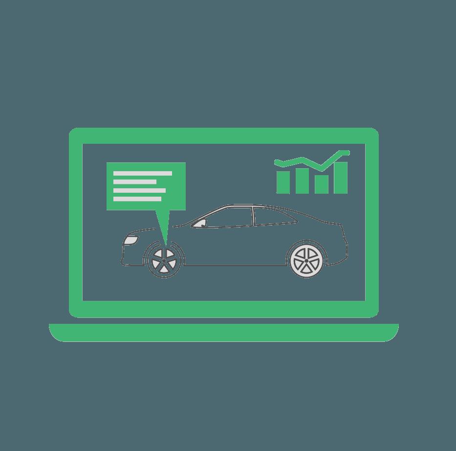 Bil serviceeftersyn Skælskør Slagelse, grøn computer ikon